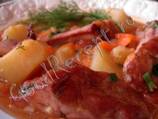 Солянка с ребрышками копчеными рецепт 99