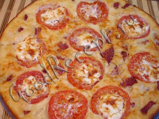 Рецепт пиццы на кефире жидкое