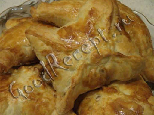 Пирожки с фаршем из слоеного бездрожжевого теста