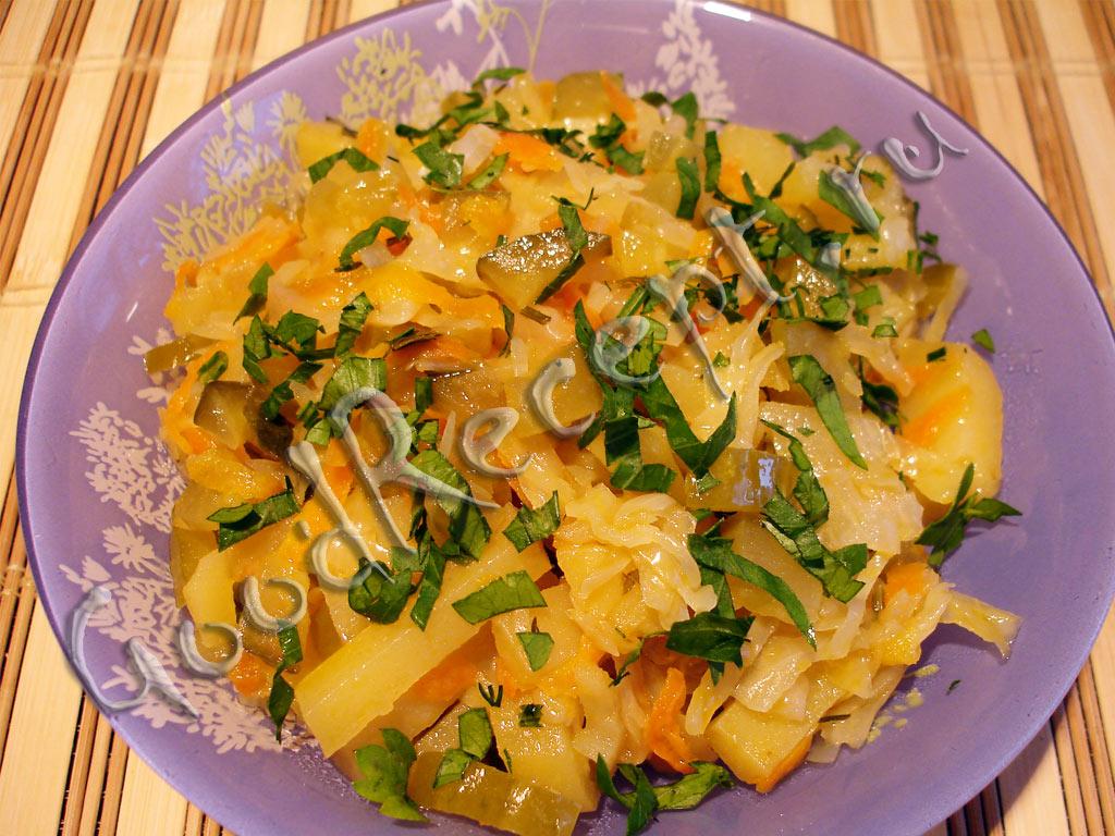 Солянка овощная с капустой рецепт