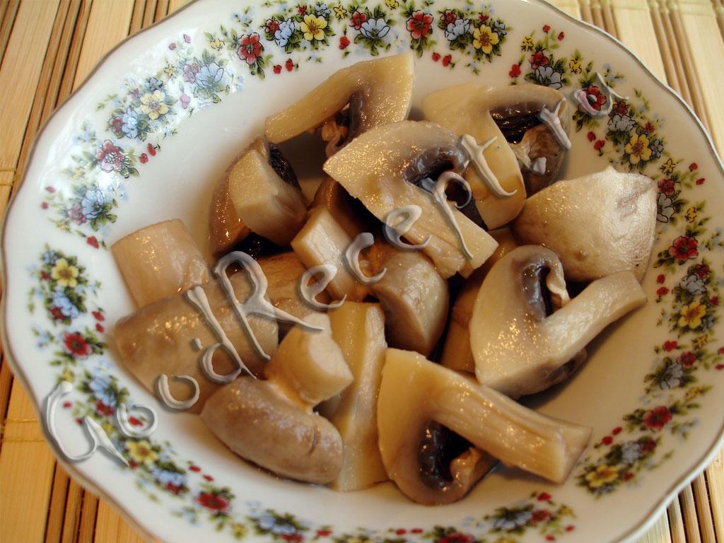 Рецепт с вареными шампиньонами