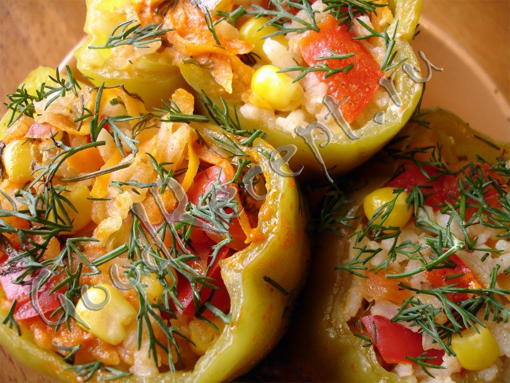 перец фаршированный рецепт с рисом и овощами