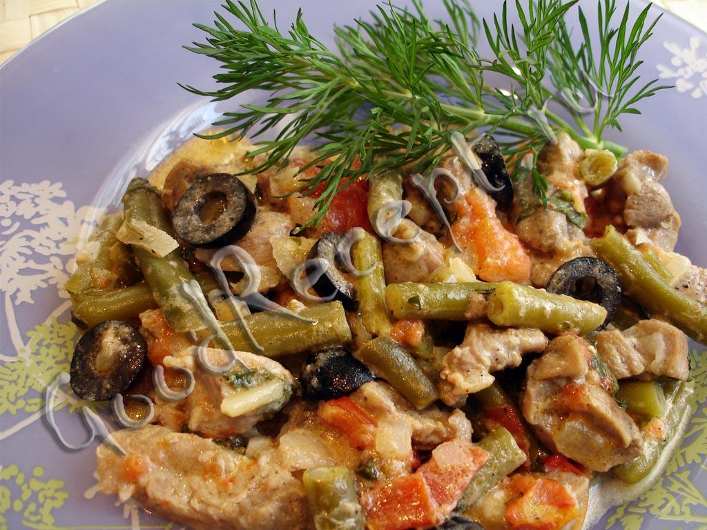 Мясо с фасолью рецепт