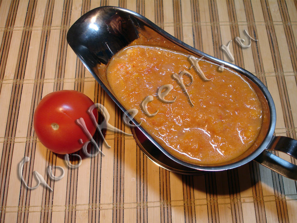овощной соус рецепт фото