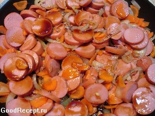 Солянка капуста сосиски рецепт