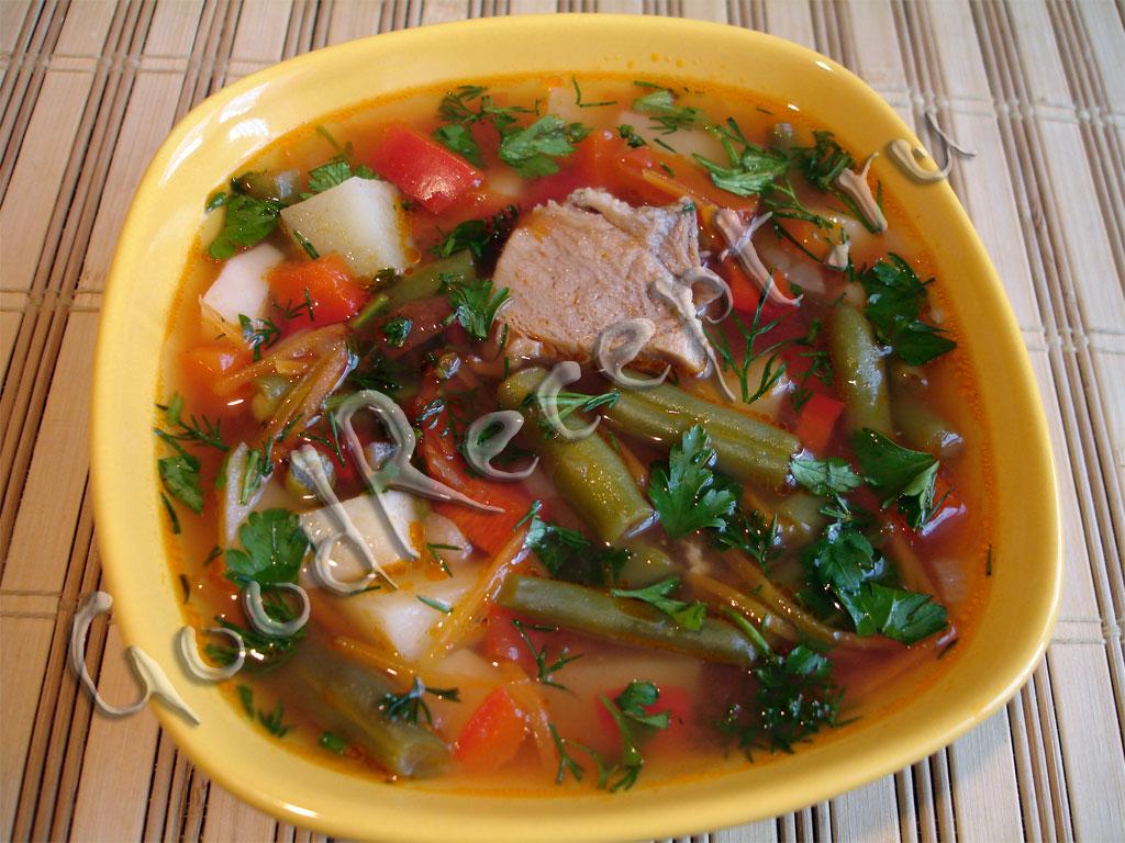 Суп из стручковой фасоли без мяса