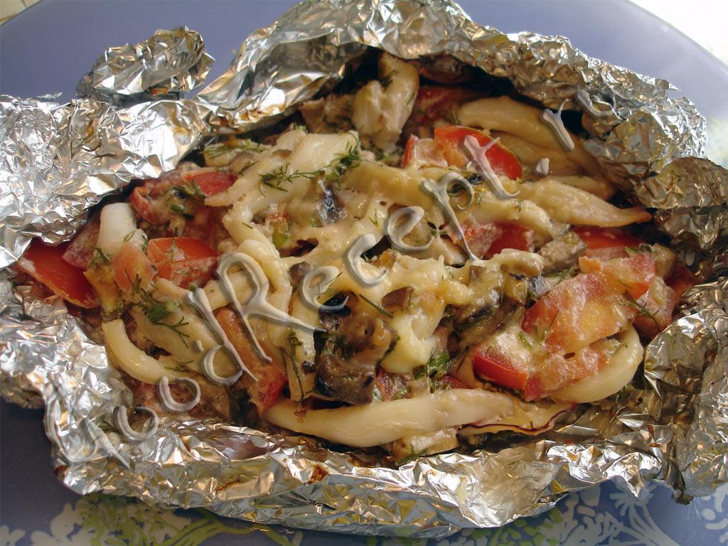 кальмары запеченные в духовке