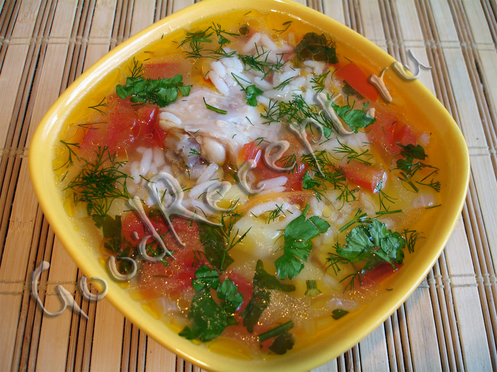 легкий куриный суп с рисом