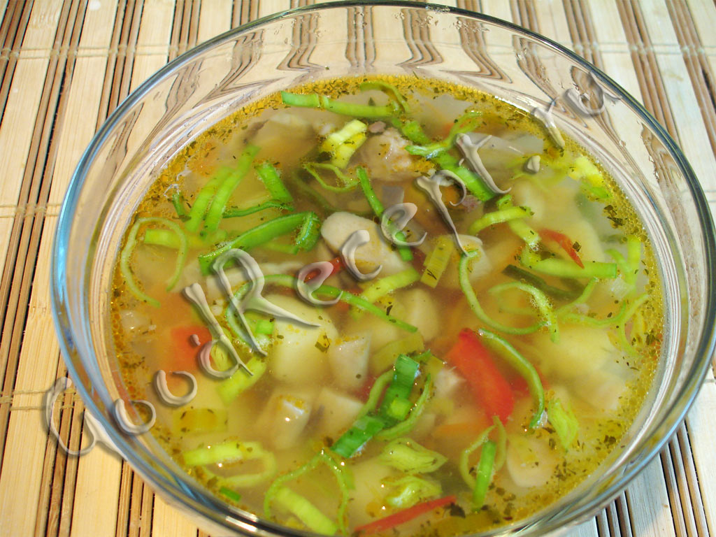 Суп с вешенками рецепт в мультиварке