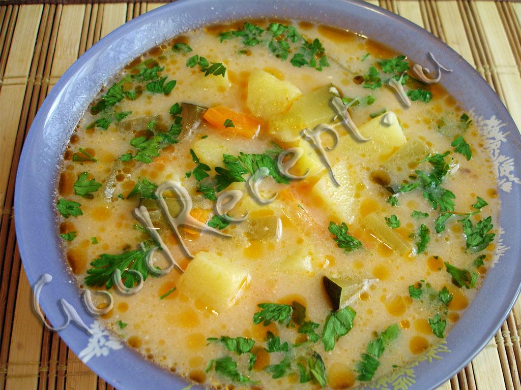 Сырный суп с мясом рецепт