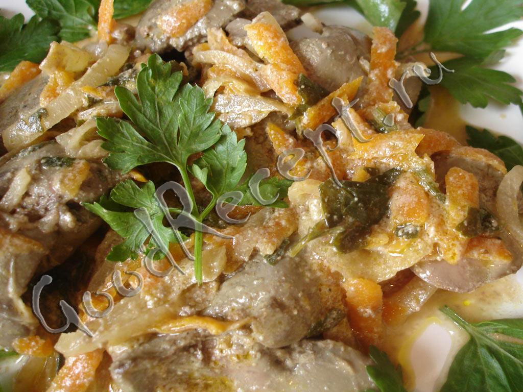 рецепт куриная печень жареная с луком и морковью