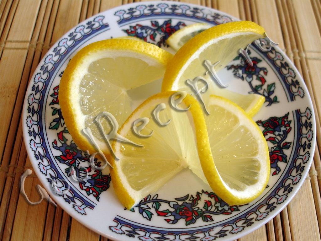 Украшение блюд лимоном