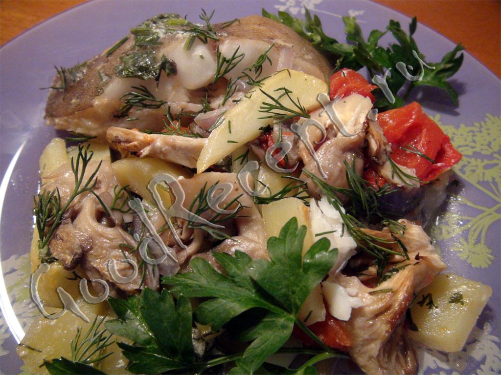 рецепт запеченный палтус в духовке с картошкой в