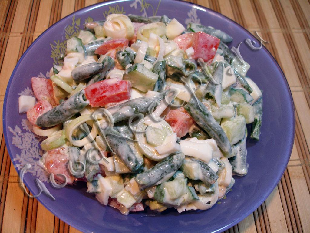 салаты из спаржевой фасоли рецепты