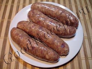 Домашние колбаски запеченные в
