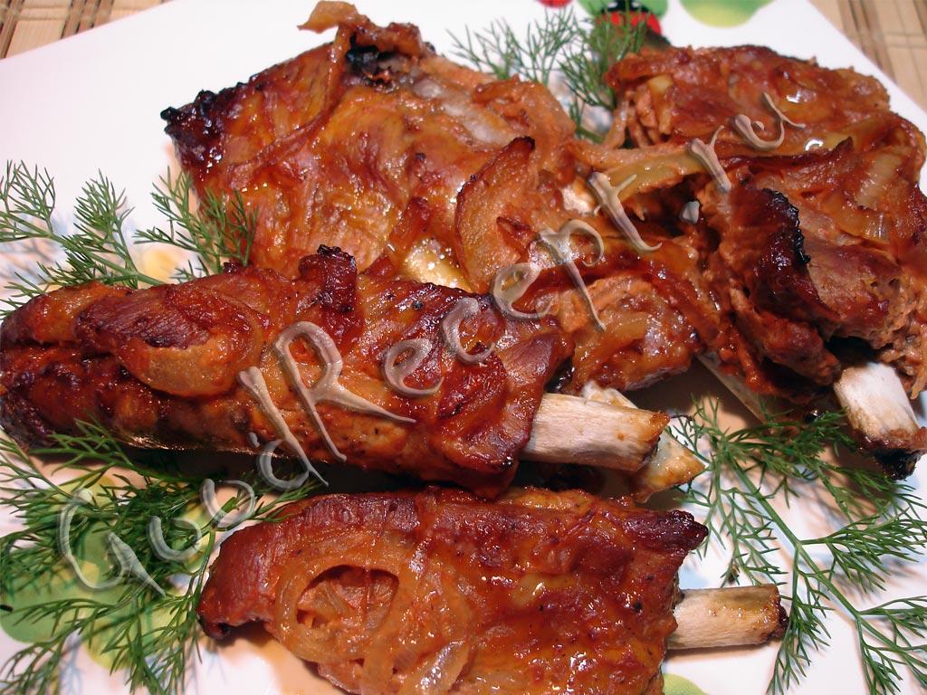 Запеченные свинина ребрах рецепты с фото