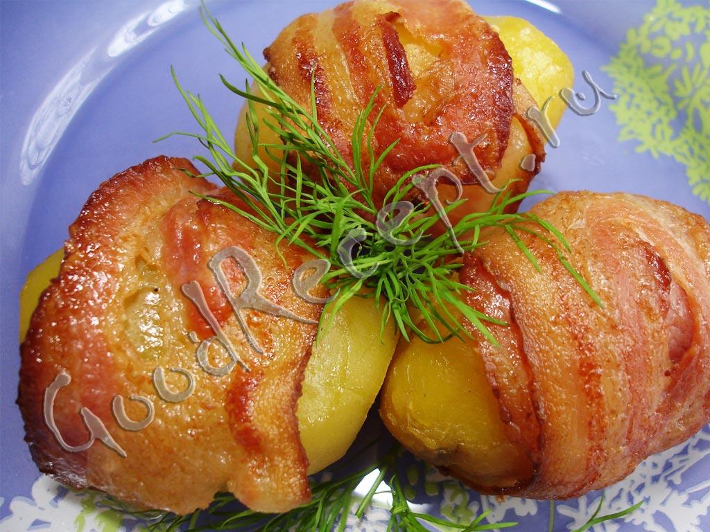 картошка в фольге с беконом в духовке рецепт с фото
